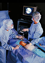 Photo of knee arthroscopy