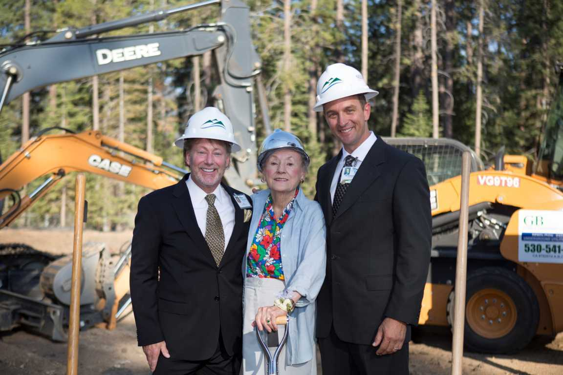 Kirk Ledbetter, Lisa Maloff and Clint Purvance, MD at the site of the Robert Maloff Center of Excellence.
