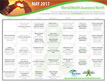 Mental Health Month Challenge Calendar