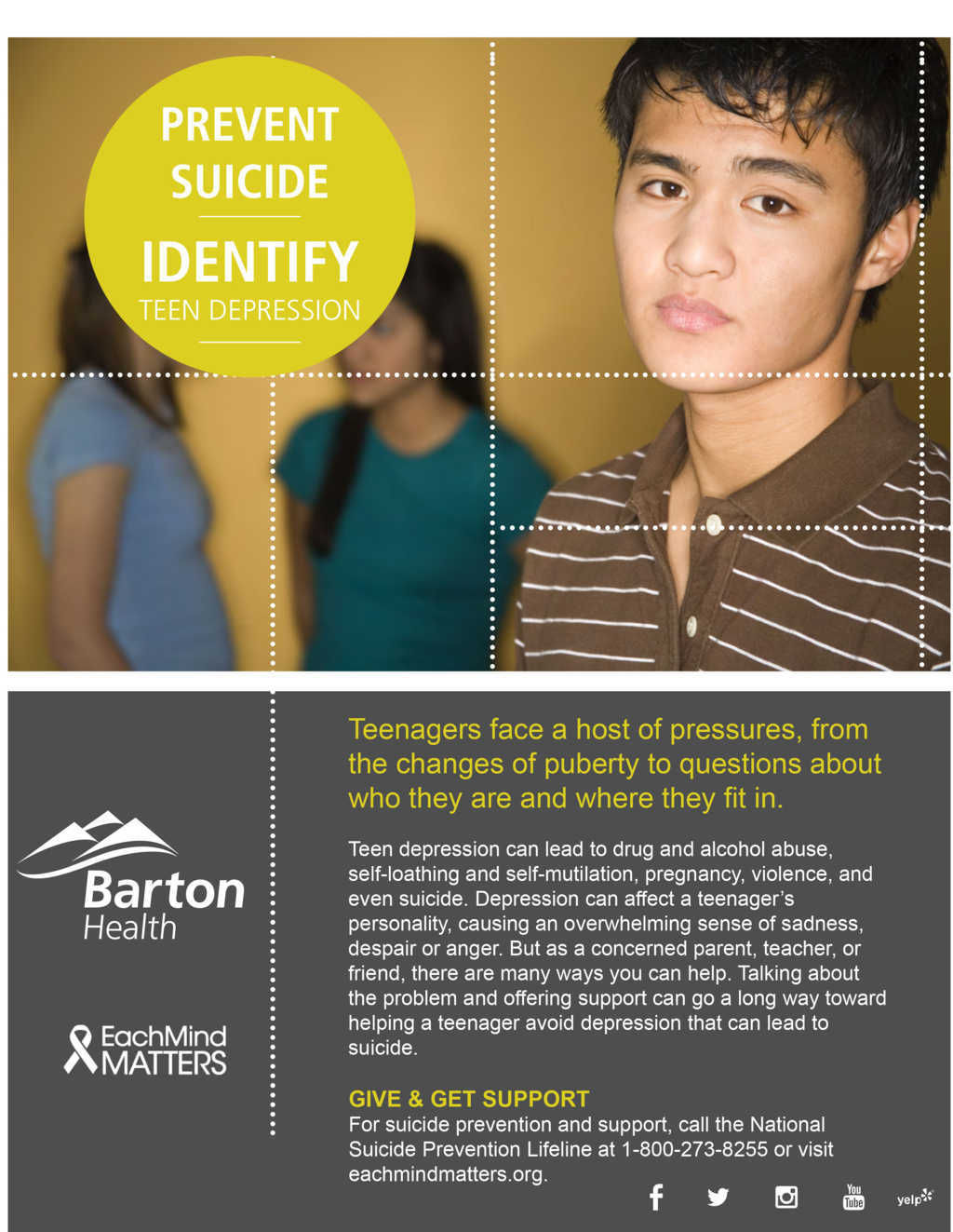 Prevent Suicide, Identify Teen Depression
