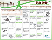 Mental Health Month Calendar
