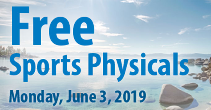 Free Sports Physicals: June 3