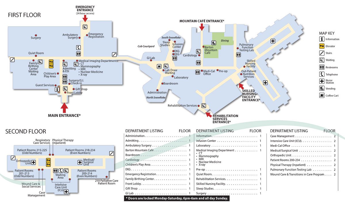 Barton Memorial Hospital Map