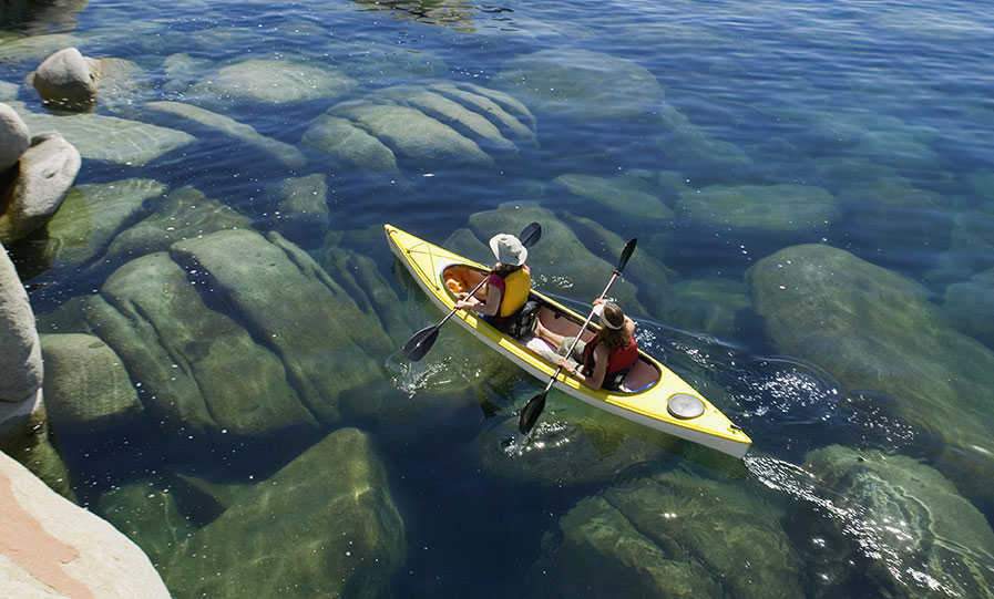 Kayakers on Lake Tahoe.